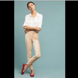 Pilcro peach Velvet Dot Stretch High Rise Jean 26